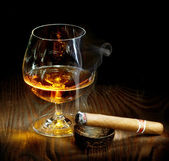 Cigar And Cognac — Stock Photo