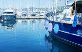 Luxury Yachts in marina — Foto Stock