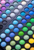 Makeup. Professional multicolour eyeshadow set — Stock Photo