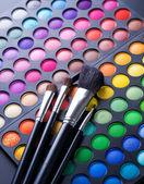 Makeup. Professional multicolour eyeshadows palette — Stock Photo
