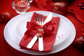 Art, banquet, bow, candle, catering, concept, couple, cutlery, d — Stock Photo