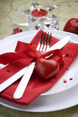 Romantic Dinner. Place setting for Valentine's Day — Stockfoto