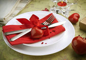Valentine Romantic Dinner — Стоковое фото