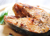 Grilled Salmon Closeup — Stock Photo