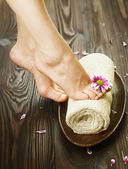 Spa of pedicure concept — Stockfoto