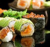 Sushi And Rolls Closeup — Stock Photo