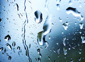 Wet Window With A Rain Drops — Stock Photo