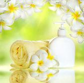 Spa.Body care.Lotion — Stock Photo