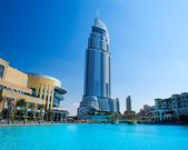 DUBAI, UAE - NOVEMBER 29. Address Hotel and Lake Burj Dubai — Stock Photo