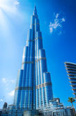 DUBAI, UAE. - NOVEMBER 29 : Burj Dubai - tallest building in the — Stock Photo