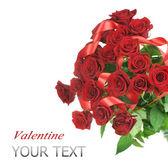 Schöne rote rosen bouquet — Stockfoto
