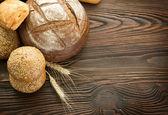 Frontera de pan de panadería con espacio de copia — Foto de Stock