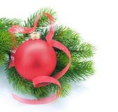 Weihnachten und neujahr dekoration weiß — Stockfoto