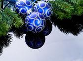 Christmas Decoration over black — Stock Photo