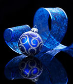Christmas Decoration isolated on black — Stock Photo