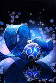 Christmas Decoration isolated on black — Stock Photo