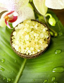 Spa. Scented Sea Salt And Orchid — 图库照片
