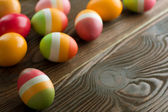 Colorful Easter Eggs. Selective Focus — Stock Photo