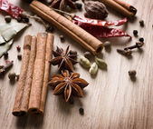 Various Spices Background — 图库照片