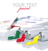 Sistema de la pintura multicolor — Foto de Stock