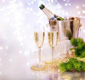 Champagne. firandet — Stockfoto