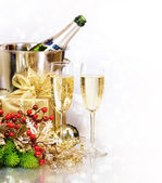 Champagne. New Year's Eve. Celebration — Stock Photo