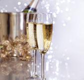 Champagner. neujahrsfeier — Stockfoto