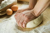 Kneading The Dough — Stock Photo