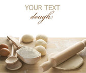 Dough For Baking Isolated On White — Stock Photo