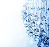 Crystal Of Modern Chandelier — Stock Photo