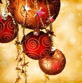 Vánoční ozdoby na hranicích design — Stock fotografie