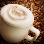 Coffee Latte or Cappuccino — Stock Photo