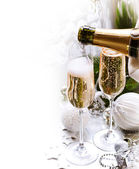 New Year Celebration.Champagne — Stockfoto