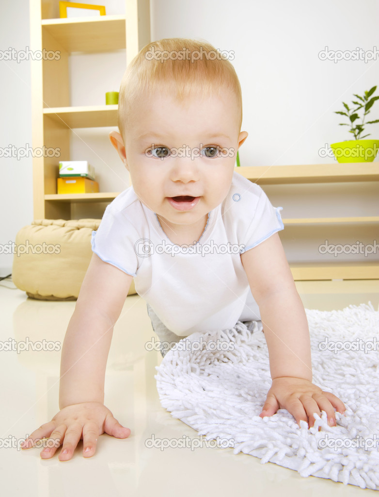 Crawling Baby boy  Stock Photo #10676345