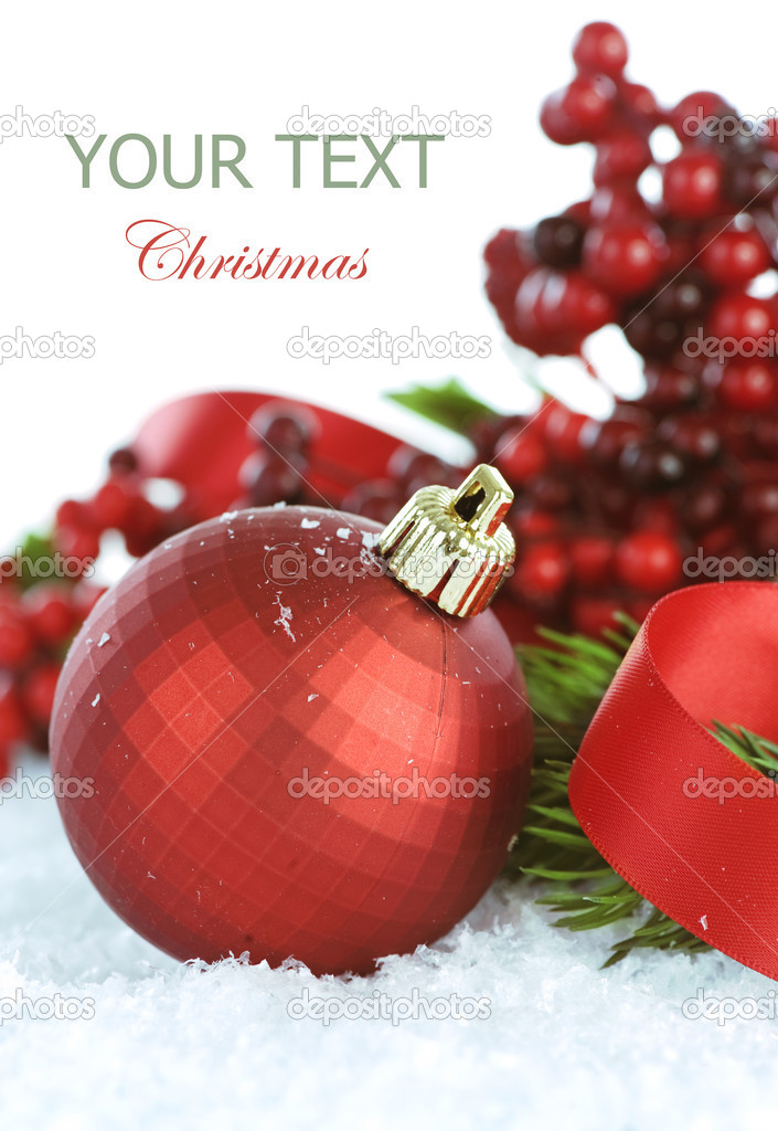 Christmas Decorations over white  Stock Photo #10676803