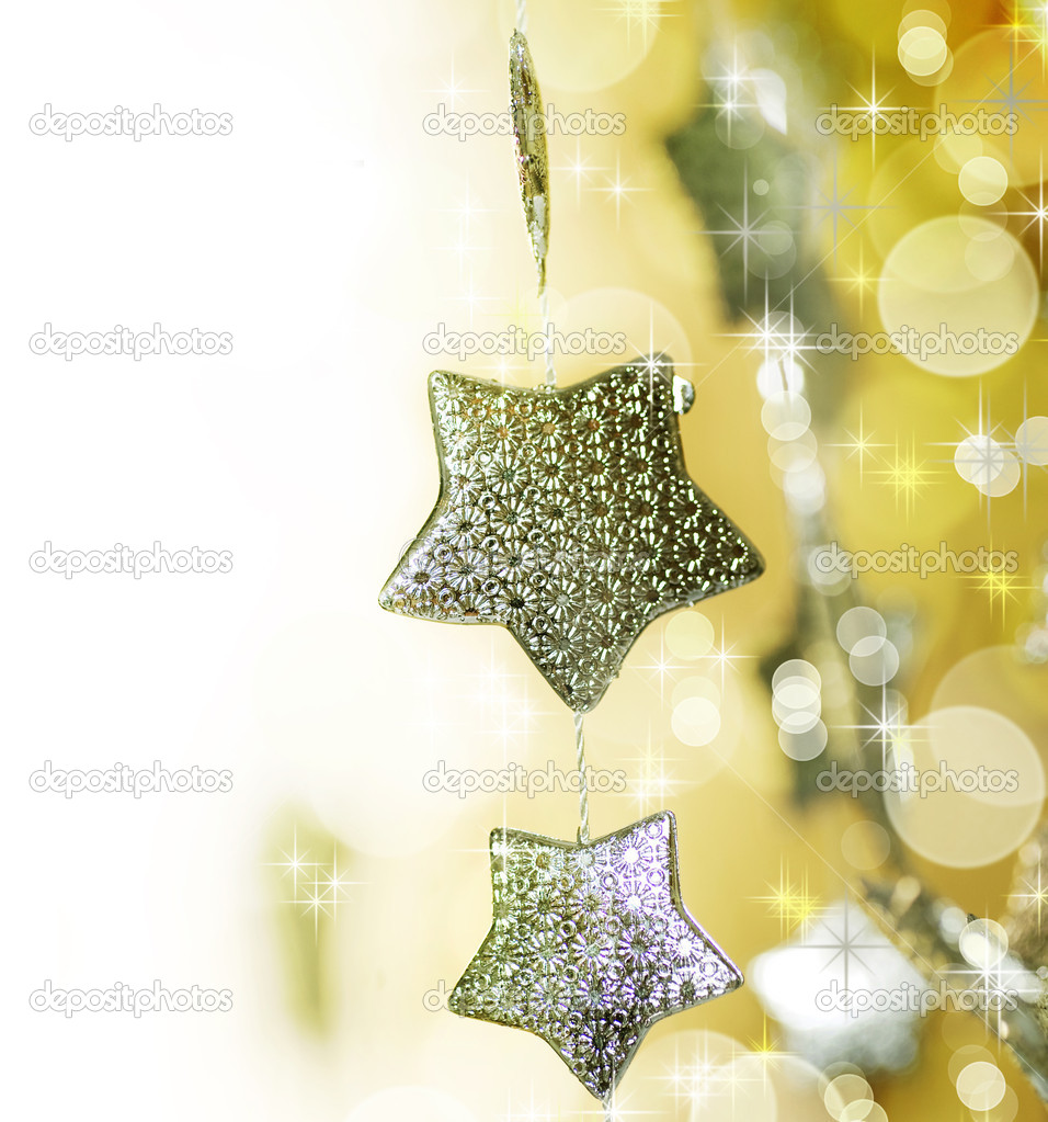 Christmas decoration border — Stok fotoğraf #10677829