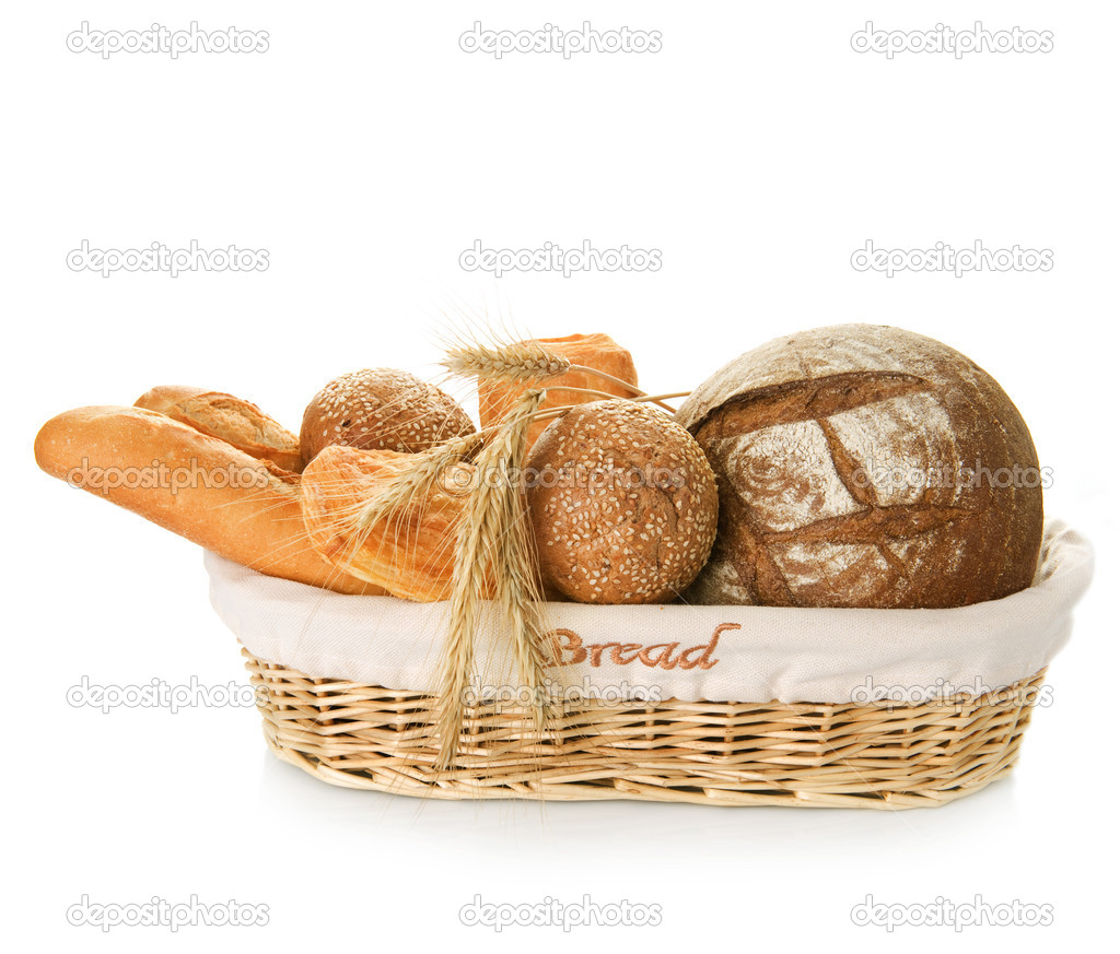 Bakery Bread Over White — Photo #10678013