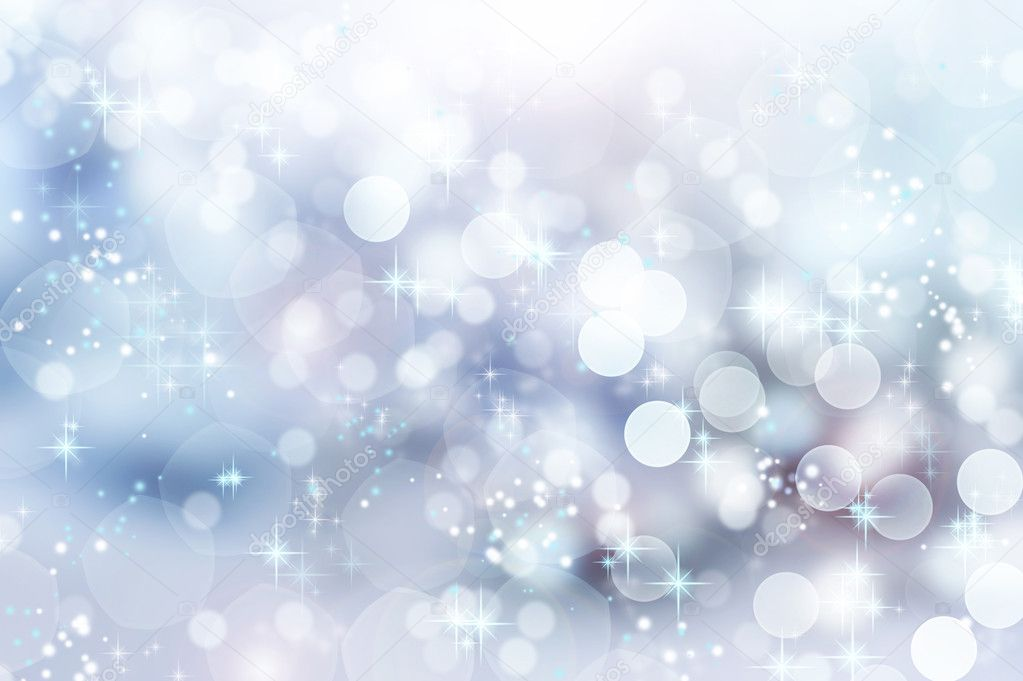 Abstract Winter background. Christmas abstract bokeh — 图库照片 #10678714