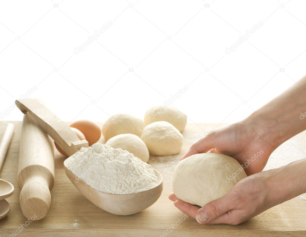 Dough For Baking Isolated On White — Stock Photo #10679560