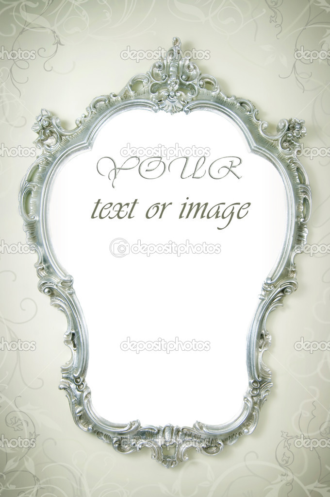 Beautiful Ornate Frame On The Wall  Stock Photo #10679765
