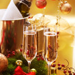 New Year Celebration.Champagne — Stock Photo