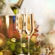 Royalty-Free Stock Photo: New Year Celebration. Two Champagne Glasses