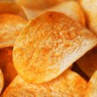 Potato Chips Isolated On White - Stok fotoraf