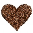 Coffee Heart Over White - Stock Photo