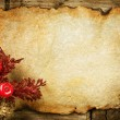 Christmas decorations on the Old Paper. With copyspace - Stock Photo