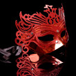 Carnival Mask isolated on black — Stock Photo