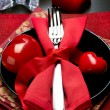 Valentine's Day Romantic Dinner. Table Setting - Stock fotografie