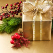 Christmas and New Year Gift — Stock Photo