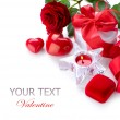 Valentine Border design - Stock Photo