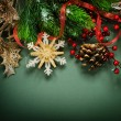 Christmas Vintage decoration border design — Stock Photo